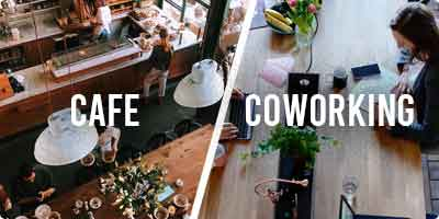 CAFES V/S COWORKING SPACES