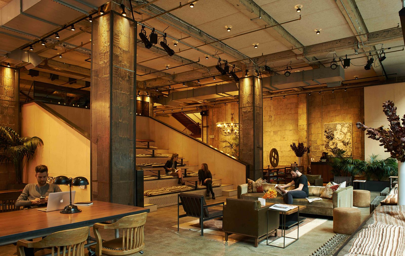 interiors of coworking space